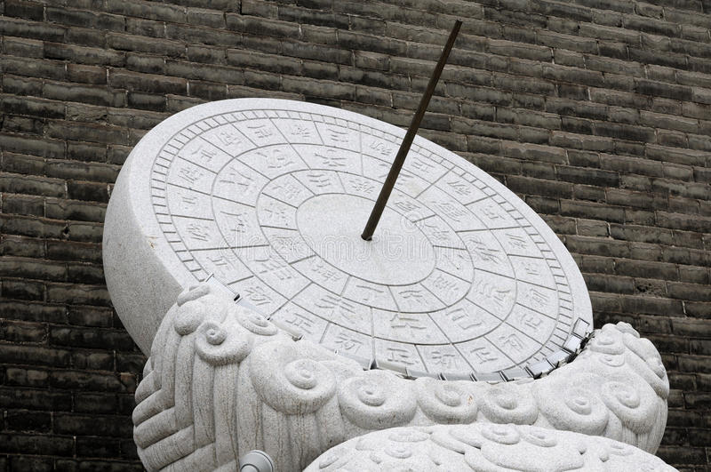 Ancient Chinese Sundial royalty free stock images