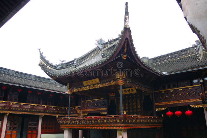 Ancient chinese theater. In the tianyi loft royalty free stock photos