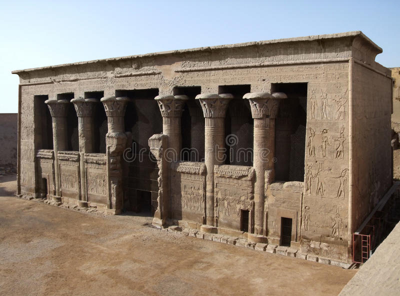 Ancient Chnum temple of Esna stock photography