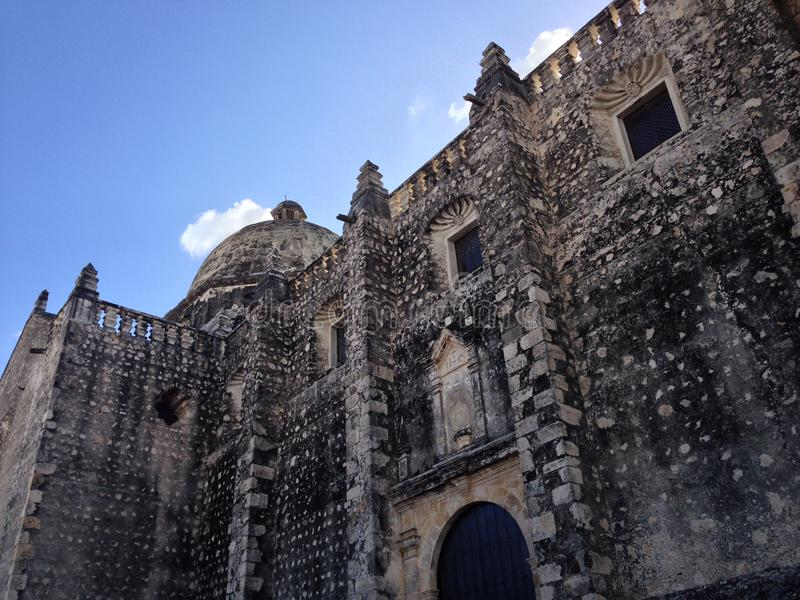 Ancient Church in Campeche. An ancient Church in Campeche royalty free stock photography