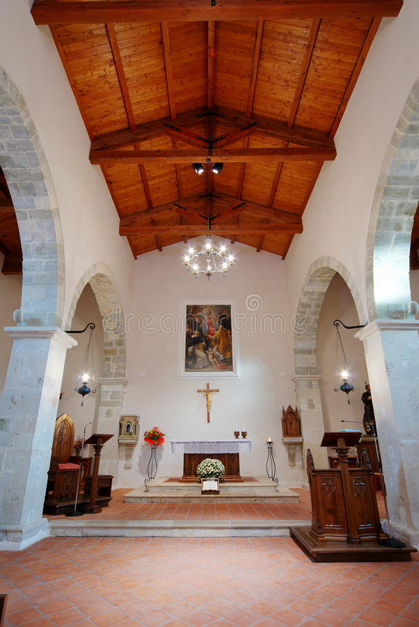 Ancient church of Faifoli inside royalty free stock images