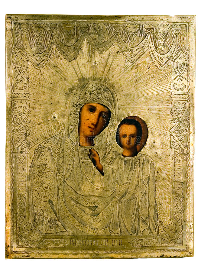 Ancient church icon. One of attributes of religion royalty free stock image
