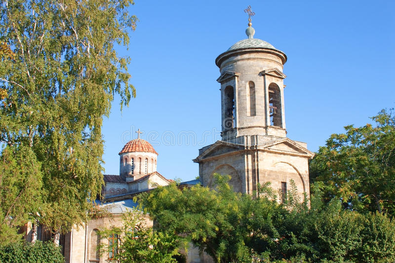 Ancient church in Kerch, Crimea, Ukraine royalty free stock images