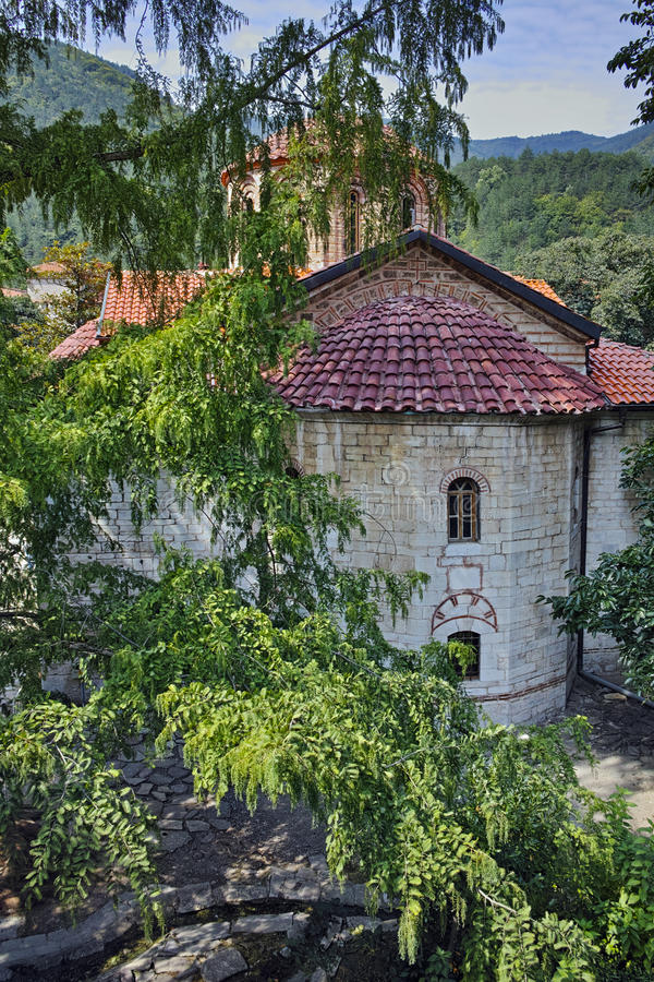 Ancient church in Medieval Bachkovo Monastery. Bulgaria royalty free stock image