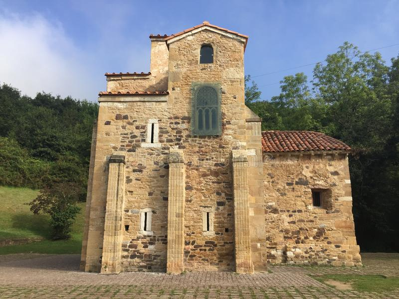 Ancient Church on mount Naranco in Oviedo Asturias Spain royalty free stock images