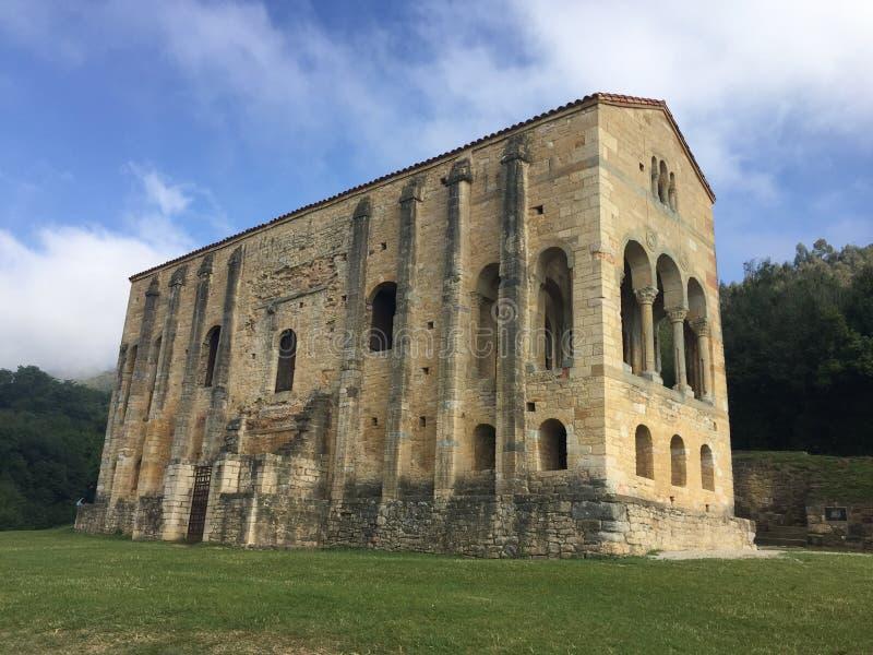 Ancient Church on mount Naranco in Oviedo Asturias Spain royalty free stock photo