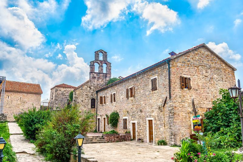 Old Town in Budva stock image