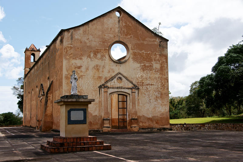 Ancient Church. Remains of an ancient church of a mission of the Franciscan Order in the lower Caroni stock image