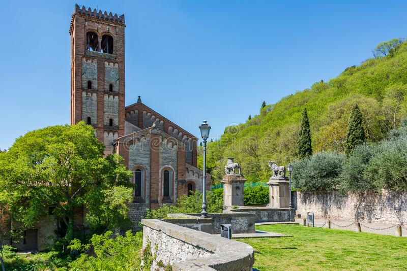 Church in Monselice stock images