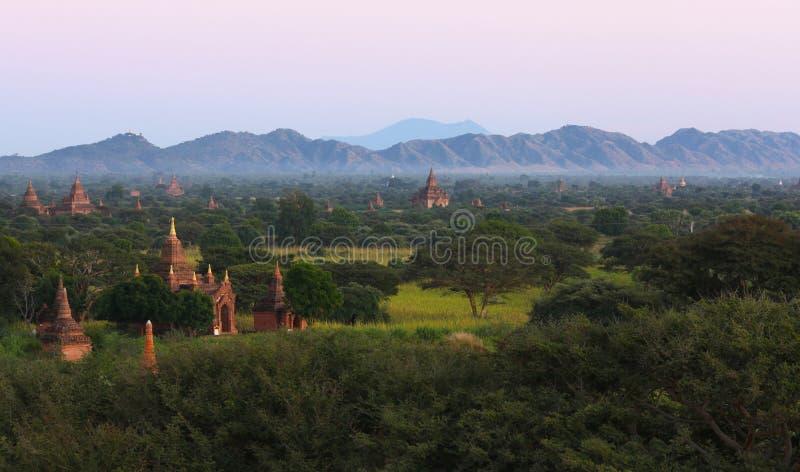 Ancient city of Bagan in Myanmar stock images