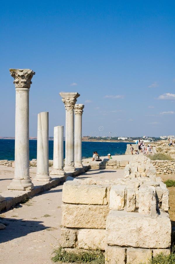 Ancient city Chersonesos royalty free stock photo