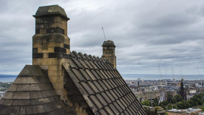 Ancient city of culture, Edinburgh. Edinburgh is a famous British cultural city, the capital of Scotland, on the southern shore of the Foss Bay in the lowlands royalty free stock images