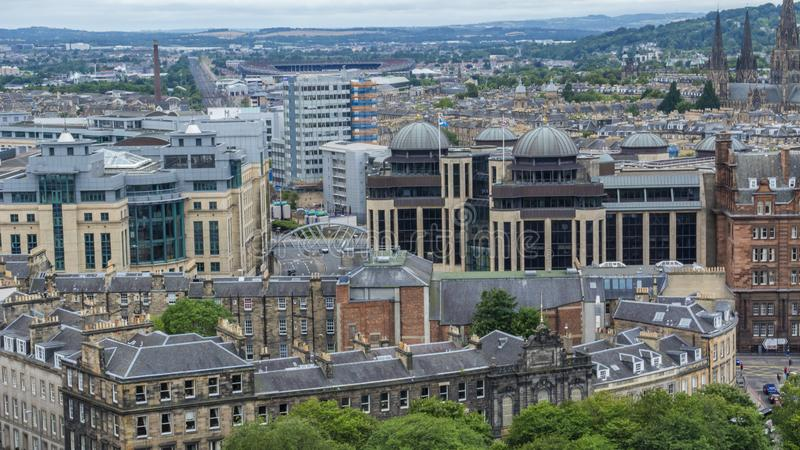 Ancient city of culture, Edinburgh. Edinburgh is a famous British cultural city, the capital of Scotland, on the southern shore of the Foss Bay in the lowlands royalty free stock photo