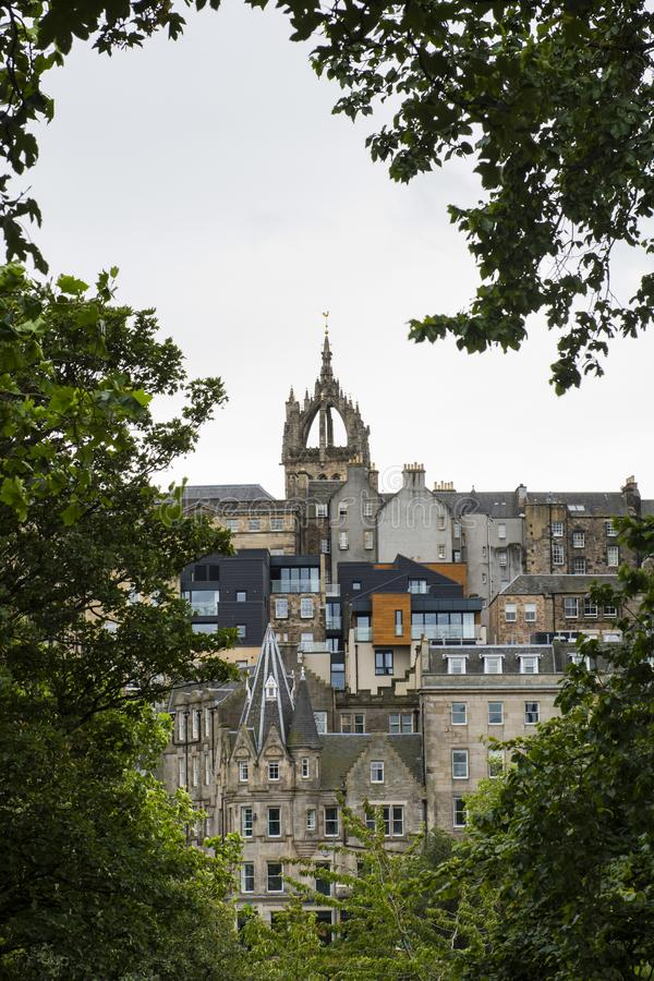 Ancient city of culture, Edinburgh. Edinburgh is a famous British cultural city, the capital of Scotland, on the southern shore of the Foss Bay in the lowlands stock photography