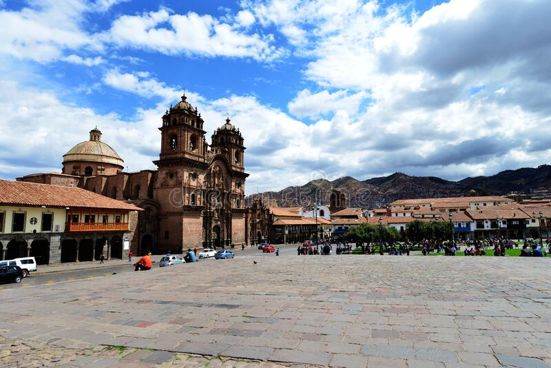 The Ancient City of Cuzco. Situated in the Peruvian Andes, Cuzco developed, under the Inca ruler Pachacutec, into a complex urban centre with distinct religious stock image