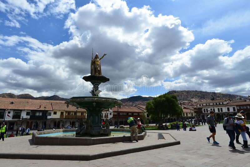 The Ancient City of Cuzco. Situated in the Peruvian Andes, Cuzco developed, under the Inca ruler Pachacutec, into a complex urban centre with distinct religious royalty free stock photography