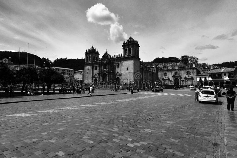 The Ancient City of Cuzco. Situated in the Peruvian Andes, Cuzco developed, under the Inca ruler Pachacutec, into a complex urban centre with distinct religious royalty free stock image