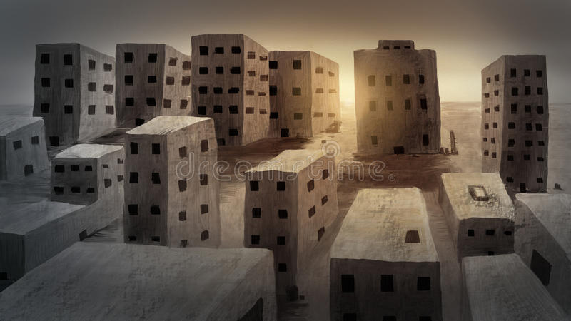Download Ancient City - Digital Painting Royalty Free Stock Image - Image: 22223326