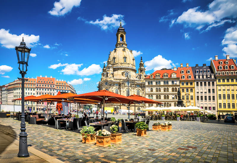 The ancient city of Dresden, Germany. Historical and cultural center of Europe royalty free stock image