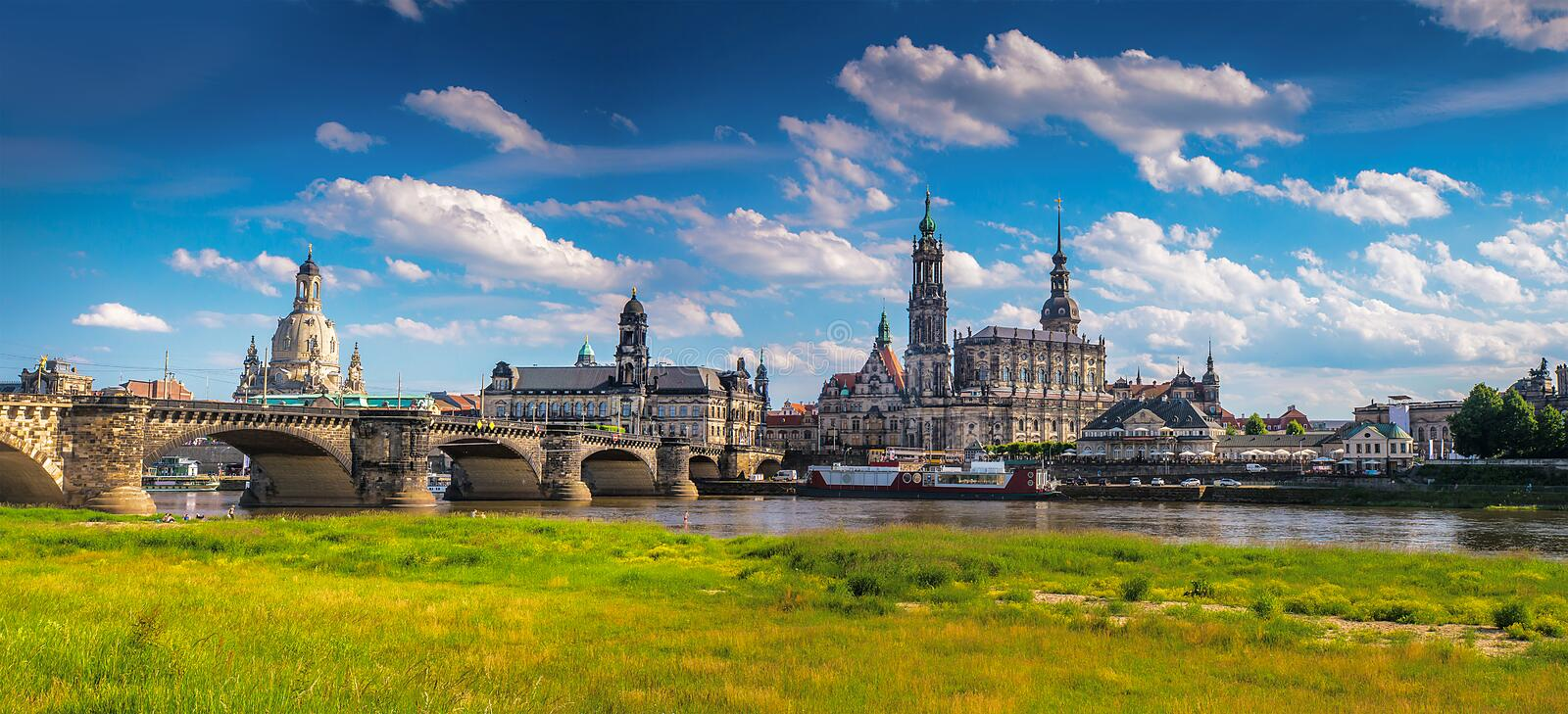The ancient city of Dresden, Germany. Historical and cultural center of Europe royalty free stock photos