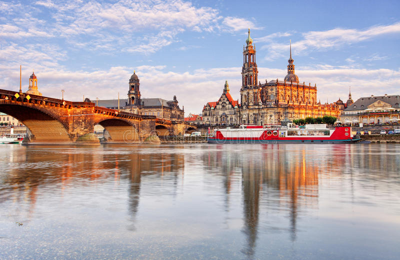 Ancient city of Dresden, Germany. Historical and cultural center stock photo