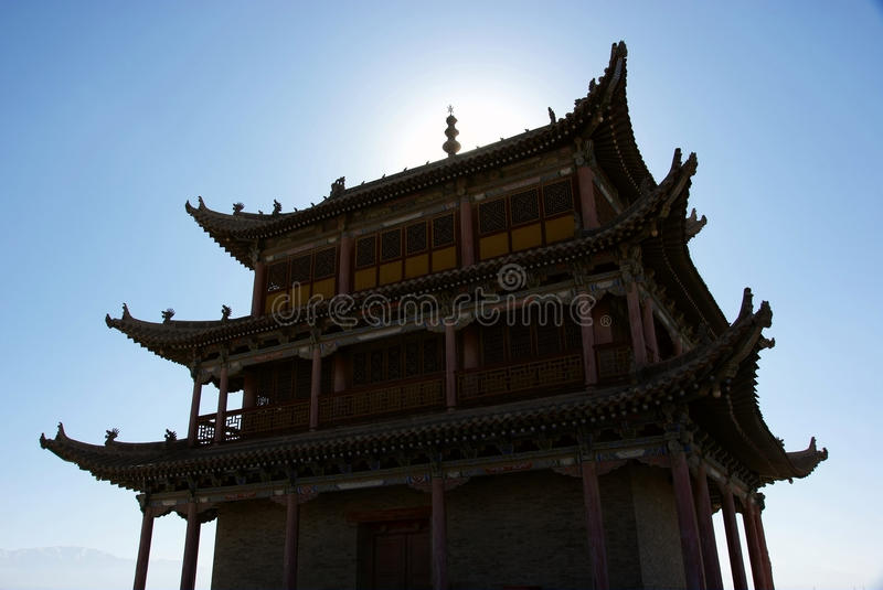 Ancient City Gate Tower In Sunshine Stock Photos