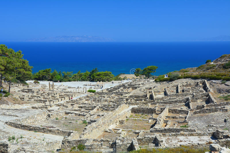 Ancient city Kamiros on Rhodes island. Greece stock photos