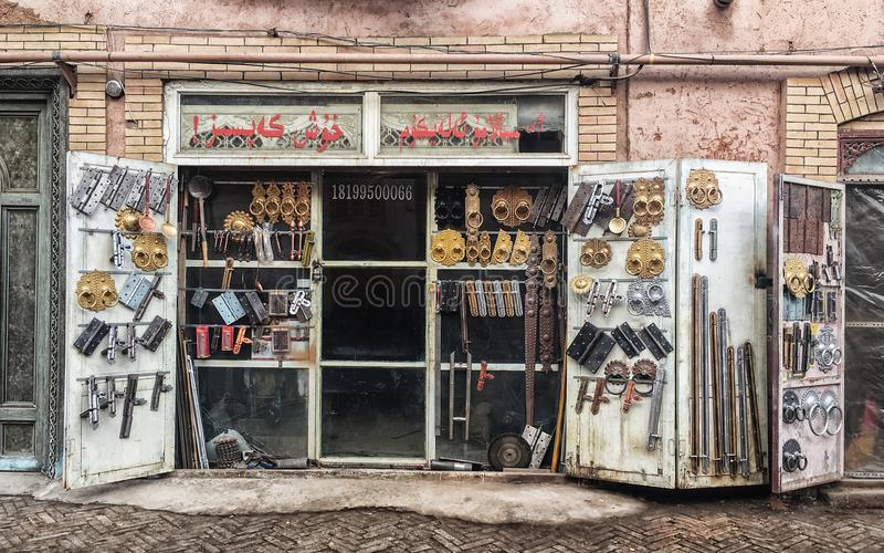 The ancient city of Kashgar, China. Feb 10,2017:It`s the state AAAAA level scenic spots, covers an area of 20 square kilometers, is located in the center of