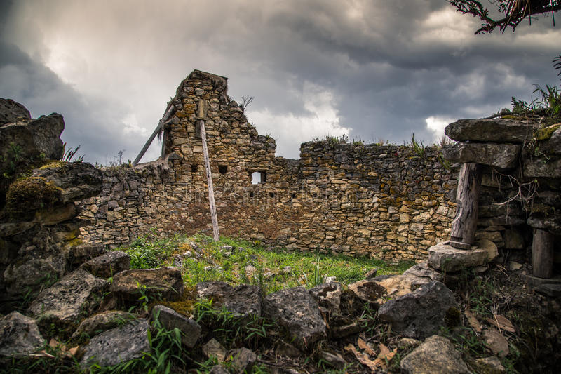 Ancient city of Kuelep stock image