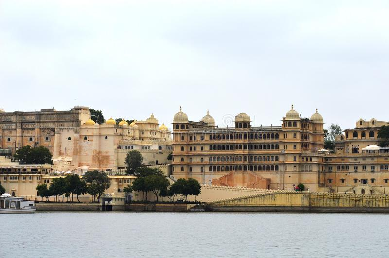 Ancient City Palace, Udaipur, India stock image