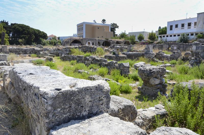 Ancient city ruins Kos, Greece royalty free stock images