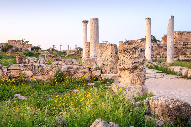 Ancient city of Salamis located in on Cyprus. royalty free stock photography
