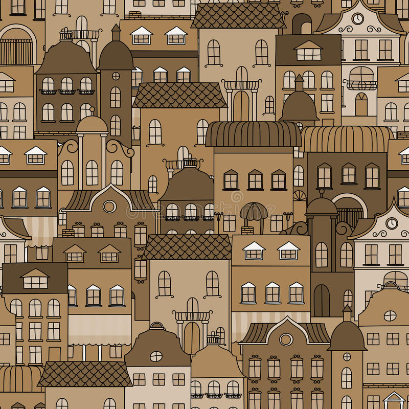 Download Ancient City Seamless Pattern Stock Vector - Image: 33338302