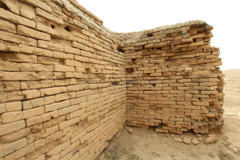 The ancient city of Ur. Image of the ancient city of Ur, One of the most important monuments in Iraq and that goes back to the Sumerian period which are located stock images