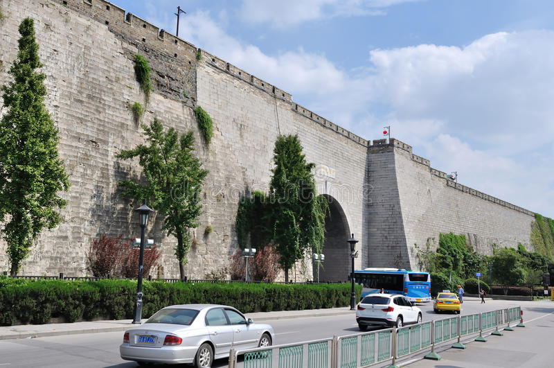 Ancient city wall royalty free stock photography