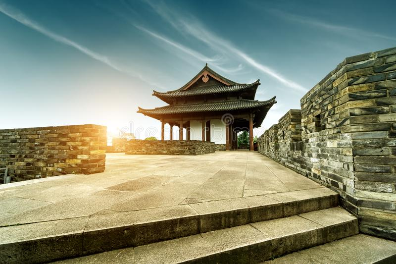 Ancient City Wall. The ancient city wall hundreds of years ago, Shaoxing, Zhejiang, China royalty free stock photography