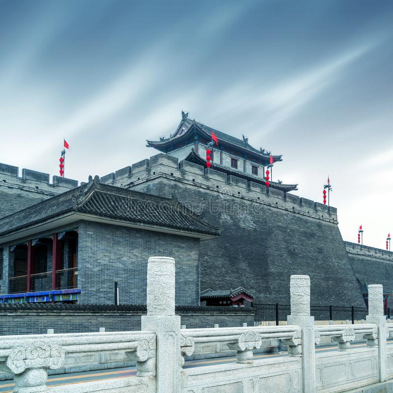 Ancient City Wall. Two thousand years ago, the ancient city wall, Xi`an, China royalty free stock images