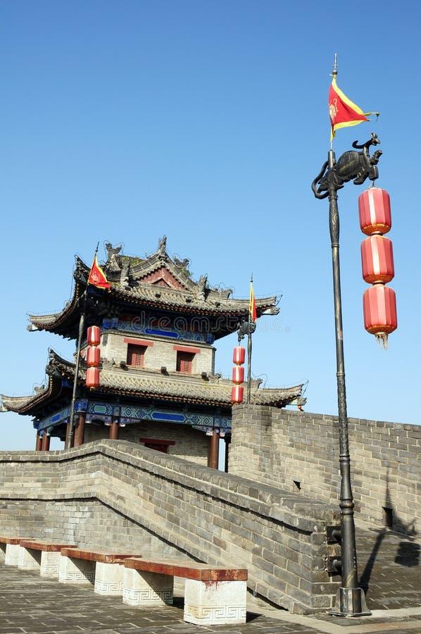 Ancient city wall of Xian, China royalty free stock images