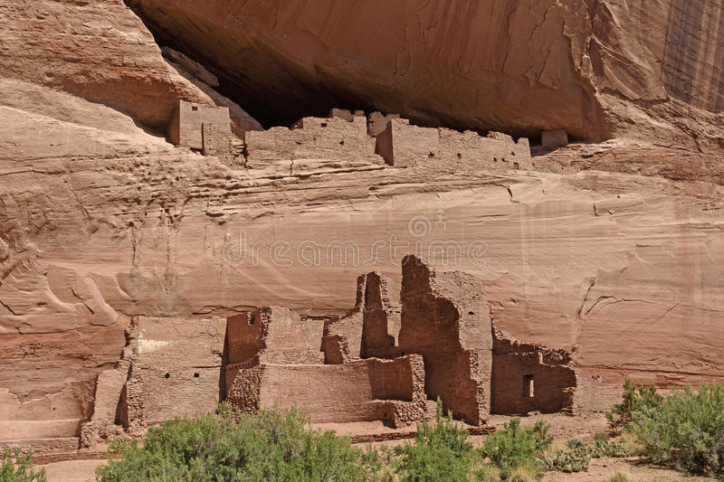 Ancient Cliff Dwellings in the Rocks stock photos