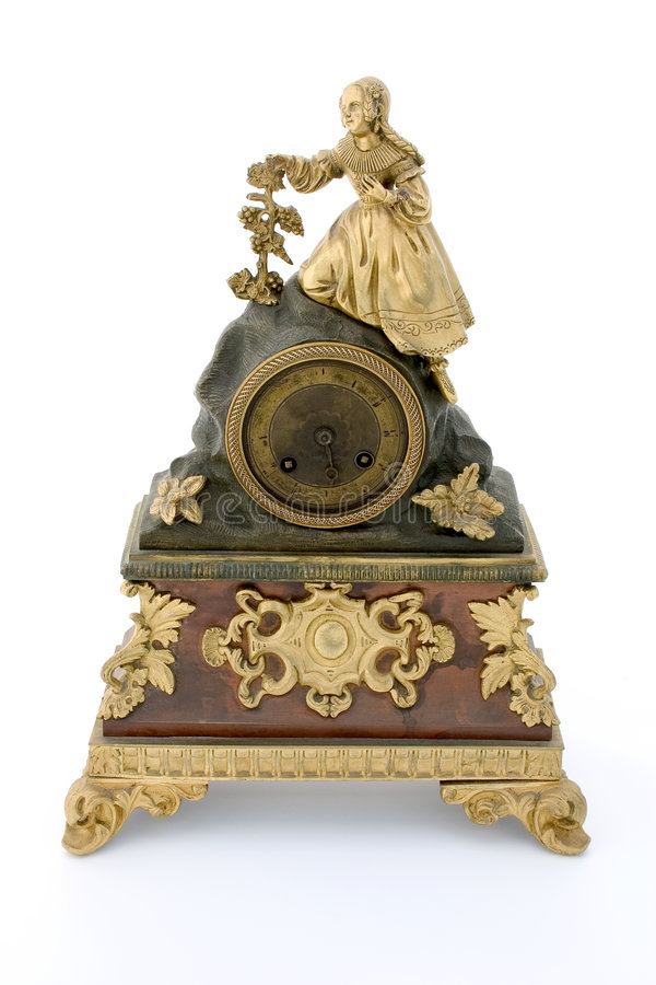 Ancient clock royalty free stock photo