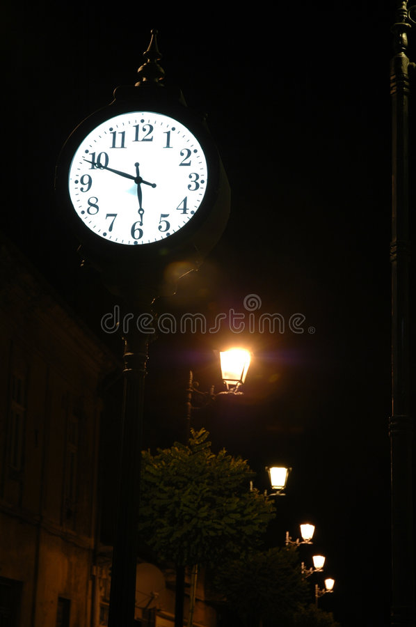 Download Ancient clock in Baia Mare stock image. Image of historical - 244227
