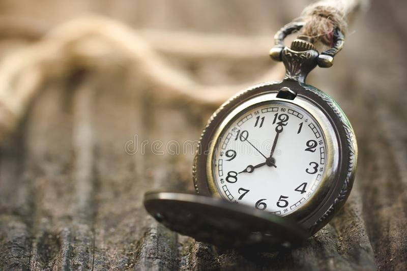 Ancient Clock Time 8.00 am. royalty free stock image