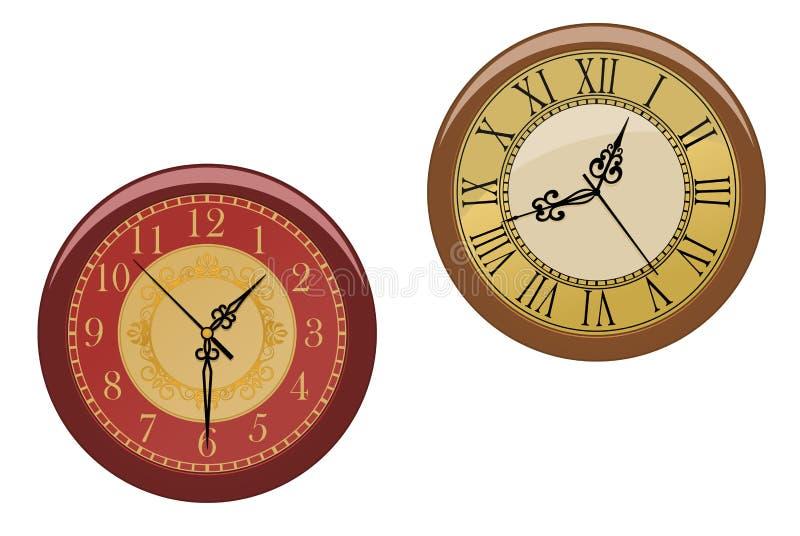 Download Ancient clocks stock vector. Image of clock, data, element - 17863886