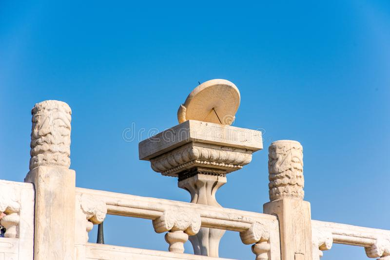 Ancient clocks in China stock images