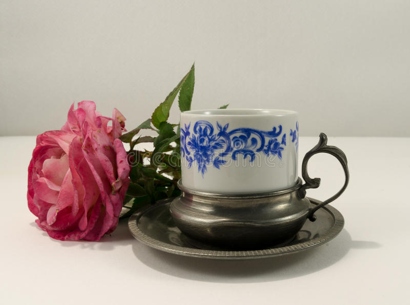Ancient coffee cup stock photos