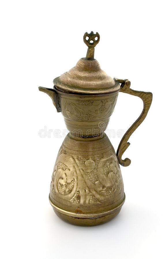 Ancient coffee pot royalty free stock images