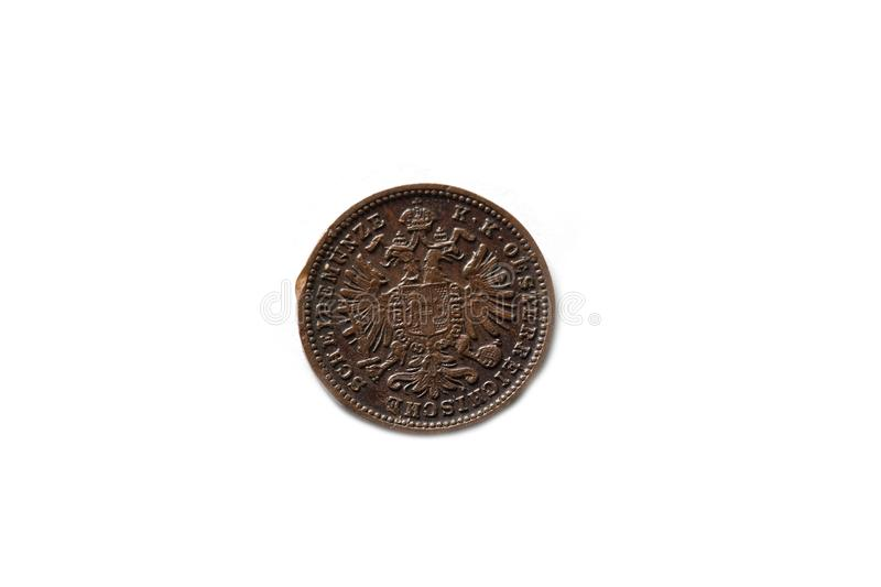 An ancient coin royalty free stock photography