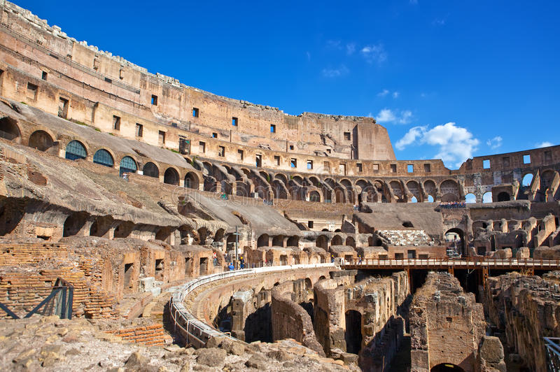The ancient Collosseo.Italy. Rome. Italy. Rome. The ancient Collosseo royalty free stock image