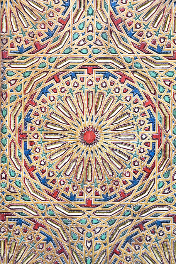 Download Ancient Colored Wood Pattern From Morocco Stock Photo - Image: 38290822