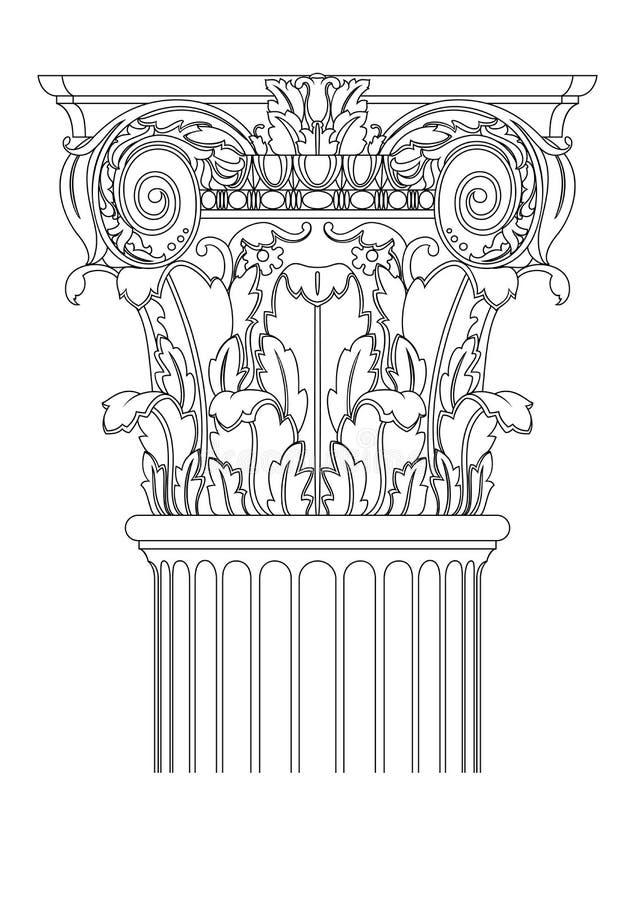 Download Ancient coloumn stock vector. Illustration of black, column - 23325652